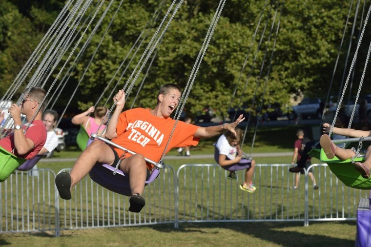 Virginia Tech Carnival Swings