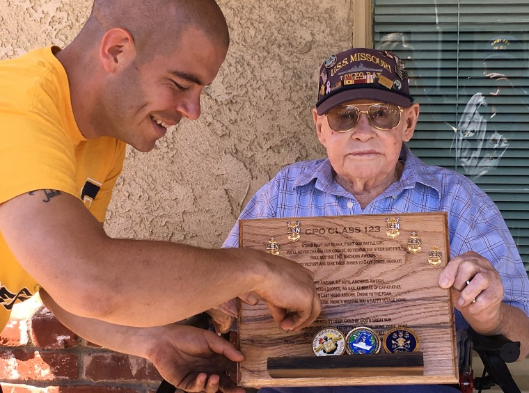 Tribute to WWII Veteran Goes Viral When Group Sings 'Anchors Aweigh' at His Doorstep