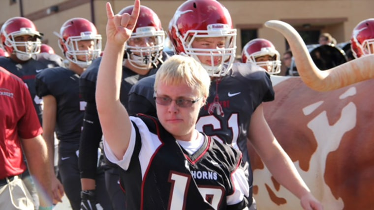 A young man with Down syndrome learns that he was accepted to University of Georgia for college.