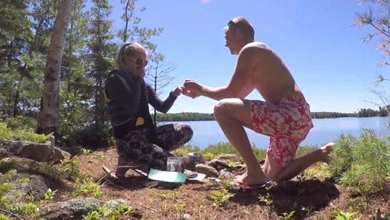Troy Reddington of Ontario, Canada proposed to Jennifer Storrar