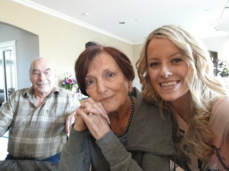Ashley Bartyik with her grandparents, British Columbia, Canada, Fraser Health