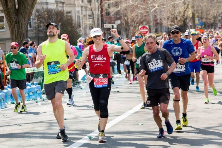 This past spring, Dr. Hau ran with Guiding Eyes for the Blind CEO, Thomas Panek, in the 2016 Boston Marathon.