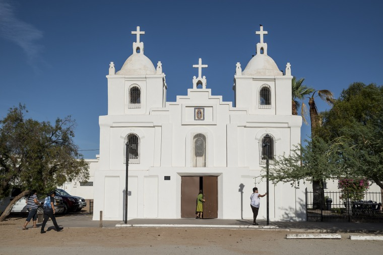 Guadalupe, Arizona, has a majority Latino population, and its Our Lady of Guadalupe Church draws Latinos from nearby towns who say it reminds them of churches in Mexico.