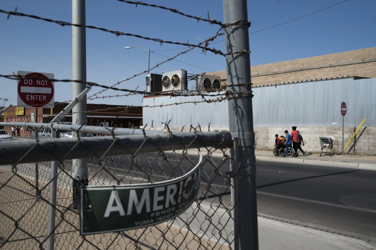 A total of 15.8 million people passed through the border crossing in San Luis, Arizona, in 2015.