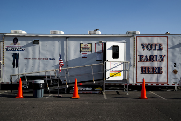 Image: Clark County???s mobile voting trailers