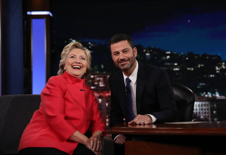 """Image: Hillary Clinton Tapes Appearance On \""""Jimmy Kimmel Live\"""""""