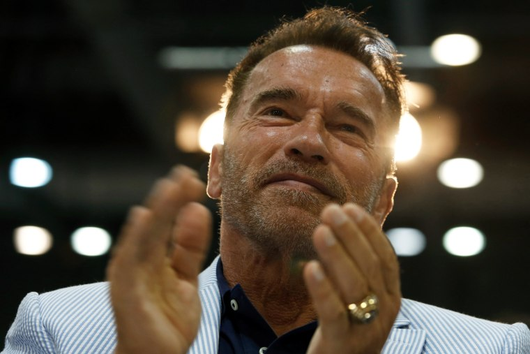 Image: Schwarzenegger attends the opening of the Arnold Classic Asia Multi-Sport Festival in Hong Kong