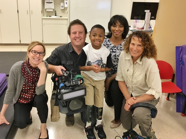 NBC News team with Zion Harvey.