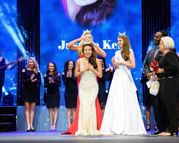 The official crowning ceremony for Miss Louisiana 2016 in Monroe, Louisiana, June 25, 2016