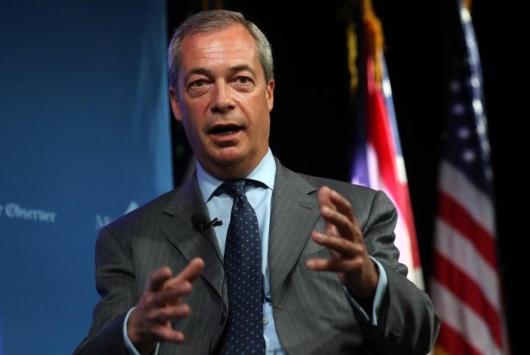 Image: UKIP Leader Nigel Farage In Cleveland For Republican National Convention