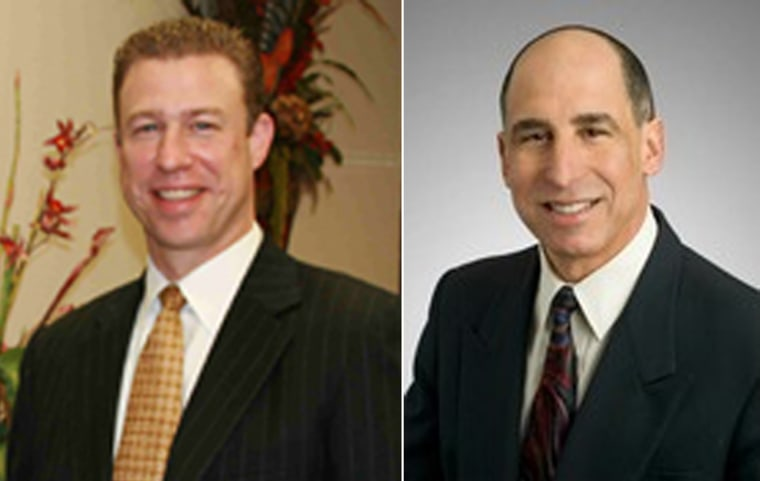 Texas attorneys J. Thad Whisenant, left and Luis Vallejo.