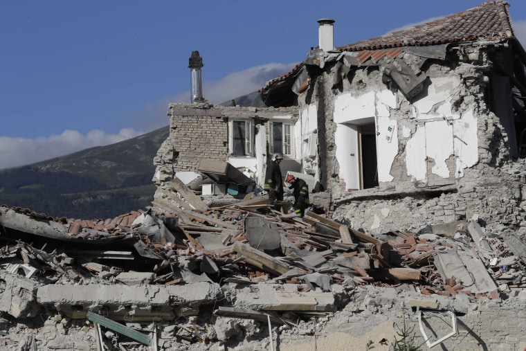 Image: Earthquake damage in Amatrice, Italy