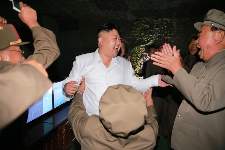 Image: Kim Jong Un in image released on Aug. 25, 2016