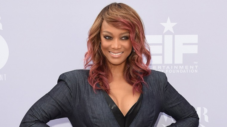 Image: FILE: Tyra Banks Welcomes A Son Via Surrogate The Hollywood Reporter's Annual Women In Entertainment Breakfast