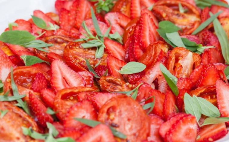 Strawberry and roasted tomato salad