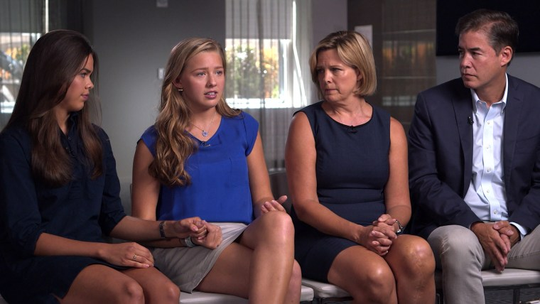 Chessy Prout with her family