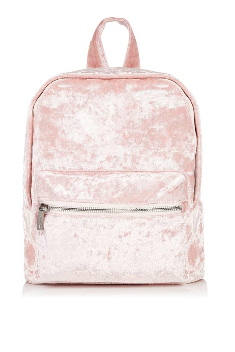 Skinny Dip Pink Velvet Backpack