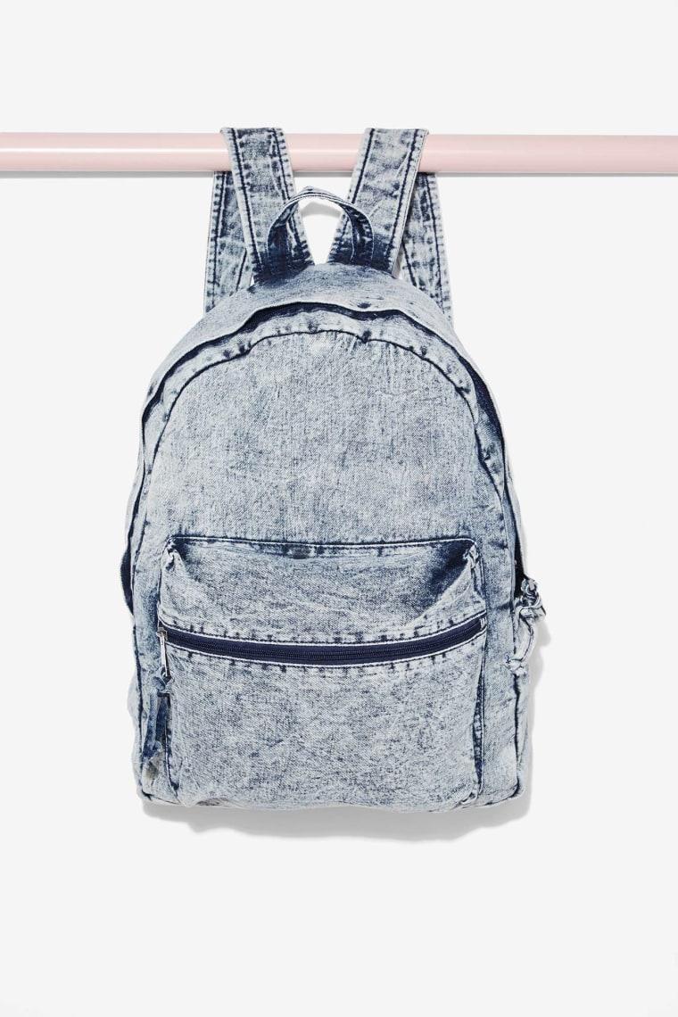 Nasty Gal Bayside Acid Wash Backpack