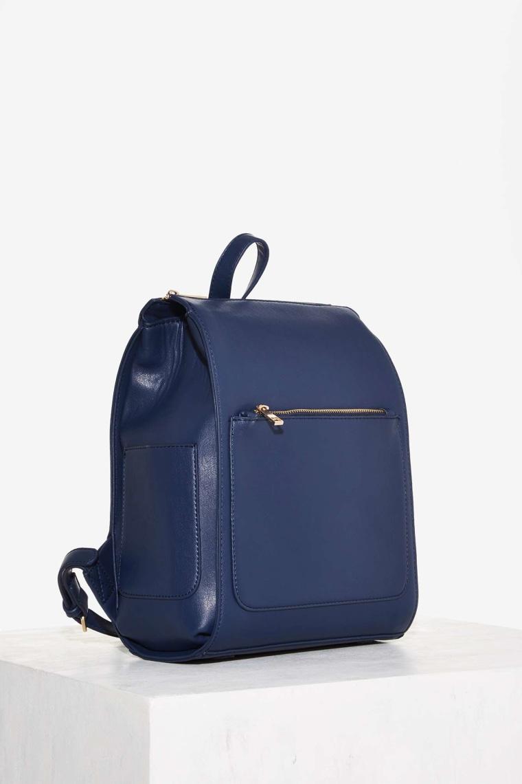 Nasty Gal Minimal Effort Vegan Leather Backpack