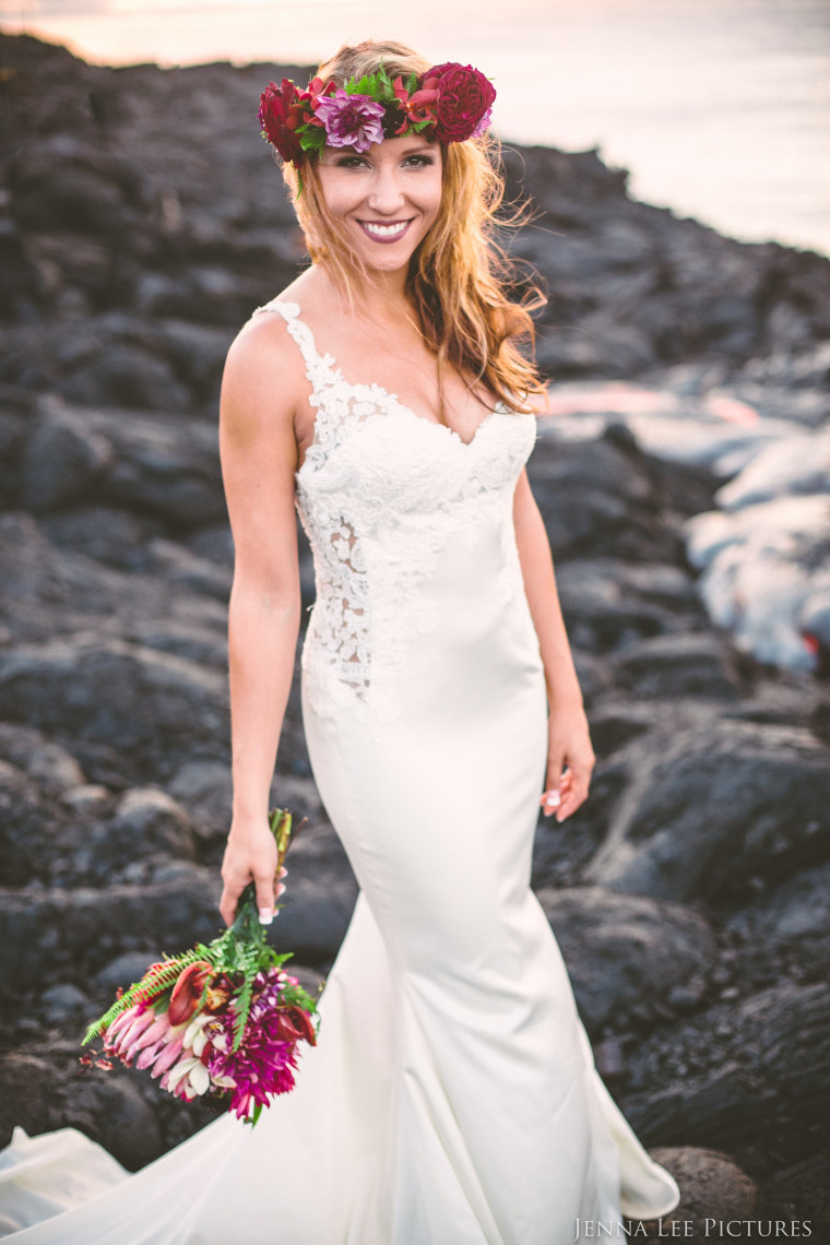 Lauren Michaels in volcano wedding photos shot by Jenna Lee