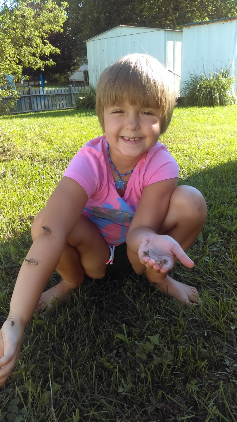 Sophia Spencer received a bug catcher and net when she was two and has not stopped catching bugs since.