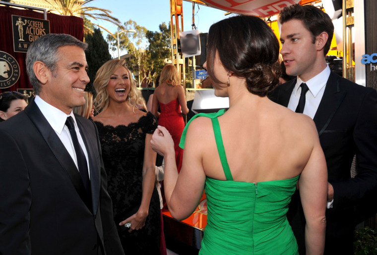 George Clooney, Stacy Keibler, Emily Blunt and John Krasinski