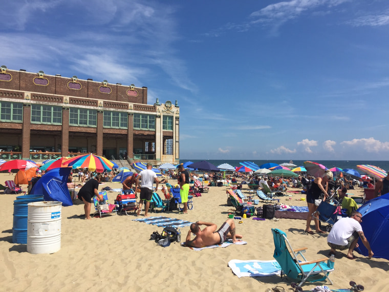 The beach at Asbury Park, New Jersey.