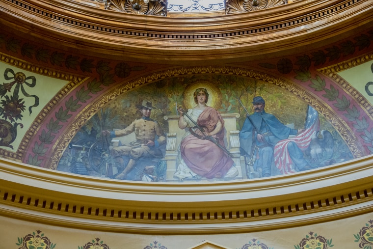 The Kansas Capitol in Topeka was built in 1903 and serves as the home of the Kansas government.