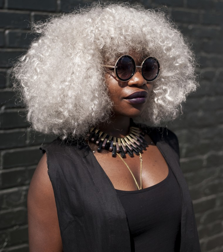 """Agnes, Prince George's County, Maryland """"I'm scared. It feels like they're just killing us everyday. It's very scary to know you're being targeted.""""  """"Afropunk, I love it. Once a year I get a chance to express myself. Within these two days I can really be myself and just feel free."""""""