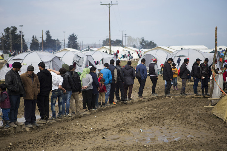 Greece: Refugee camp in Idomeni, Greece