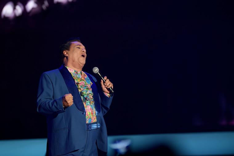 Juan Gabriel performs onstage at the Billboard Latin Music Awards in April 2016.