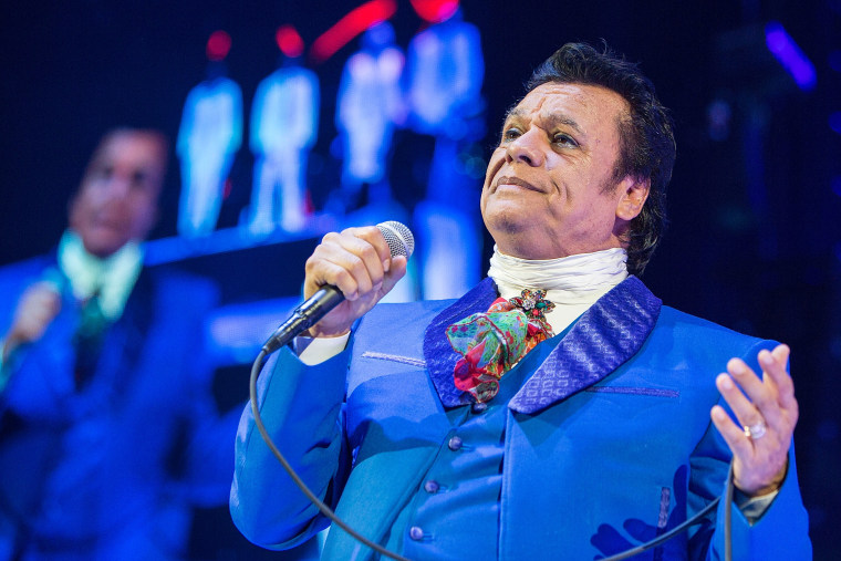Recording artist Juan Gabriel performs on stage during Volver 2015 Tour