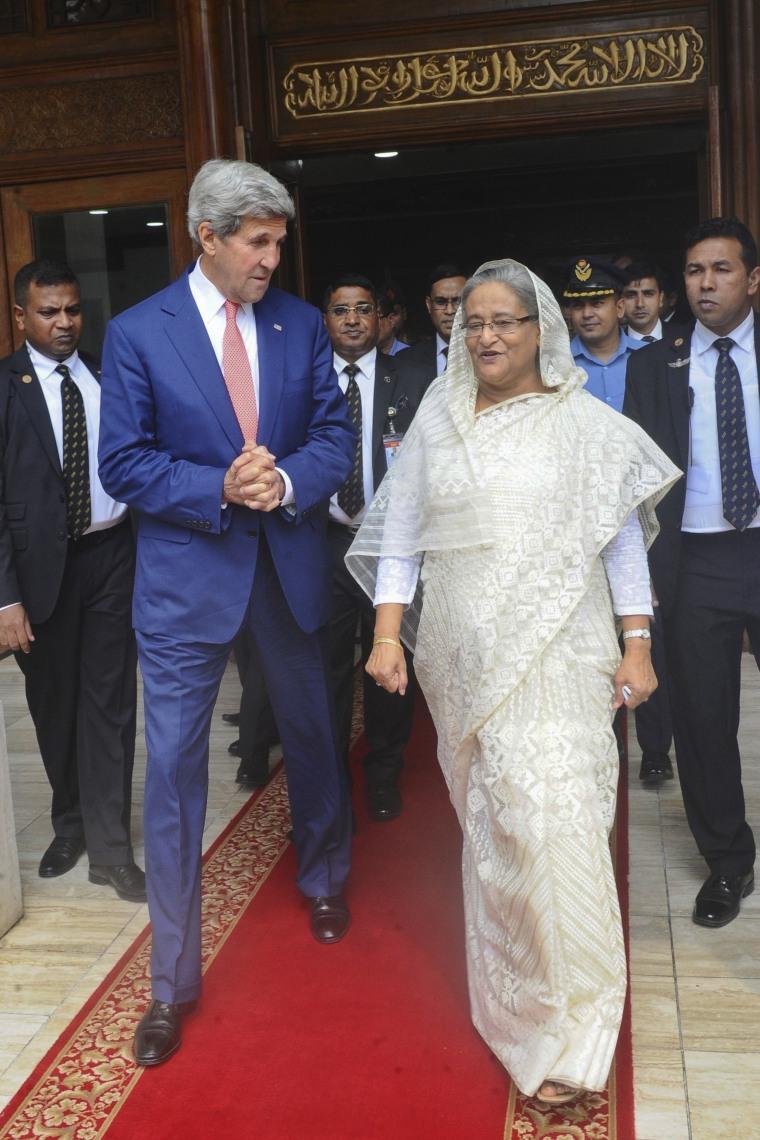 Image: John Kerry, Sheikh Hasina