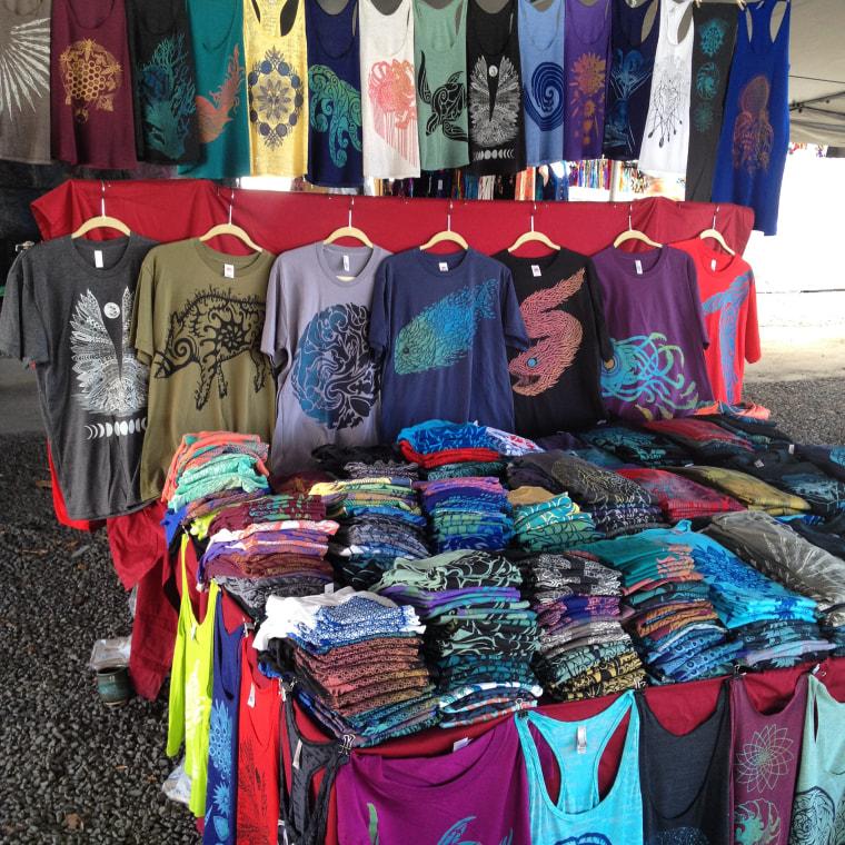 Jeremiah White's Akua Creative shirts on display