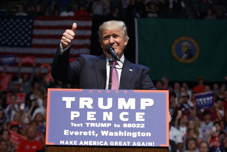 Image: Donald Trump in Everett, Wash.