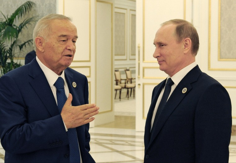 Image: Islam Karimov and Vladimir Putin