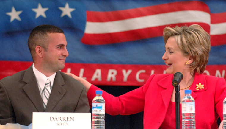 File photo:  Darren Soto and Hillary Clinton.