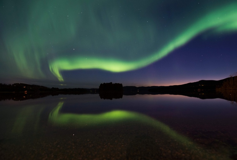 Image: TOPSHOT-SWEDEN-SPACE-WEATHER-AURORA