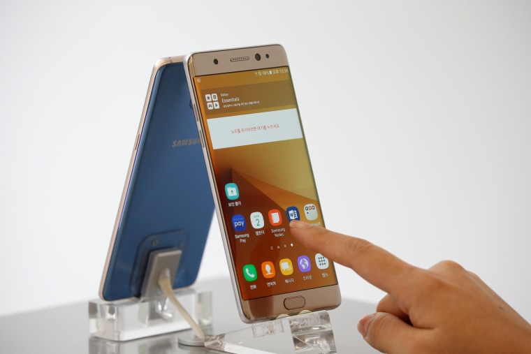 Image: A Samsung Galaxy Note 7 smartphone