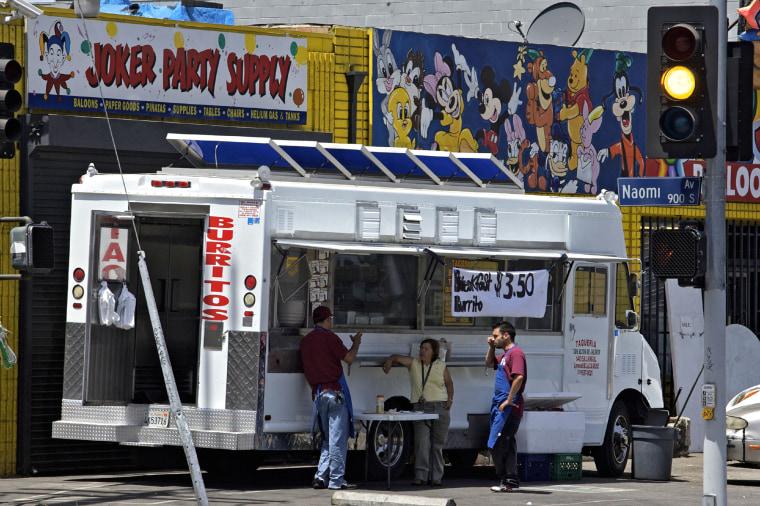 """""""Los Altos de Jalisco"""" taco truck in Los Angeles in 2008."""