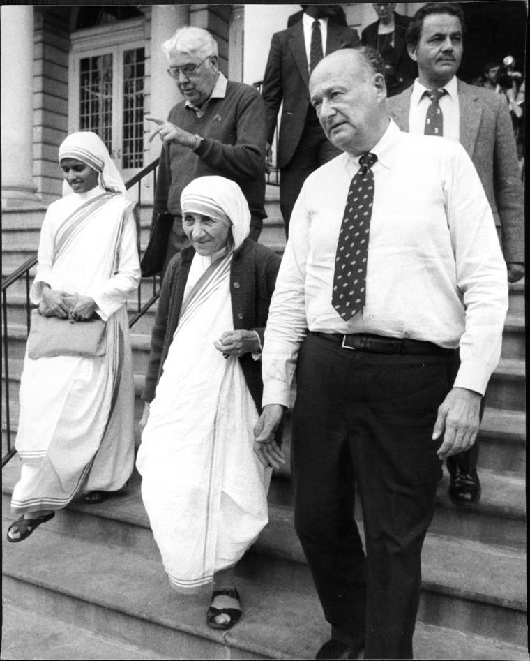 Mayor And Mother Theresa