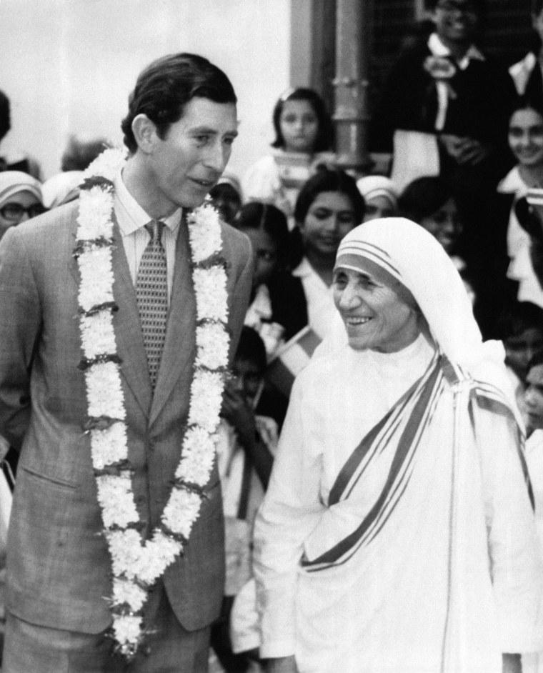 Prince Charles Et Mere Teresa