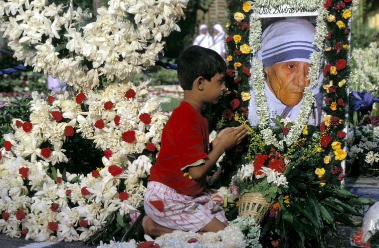 Mother Teresa'S Funeral In Kolkata, India On September 13, 1997.