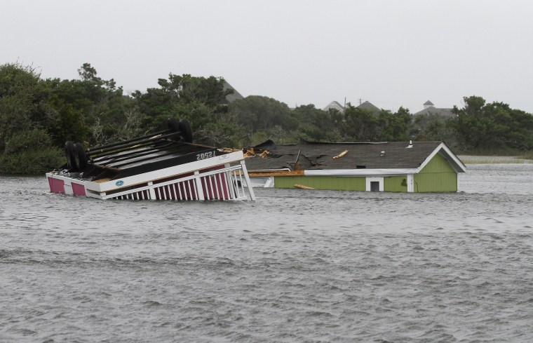 Image: Hurricane damage in Hatteras, N.C.