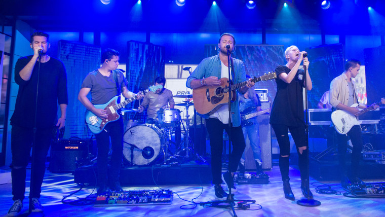 """Hillsong United performs """"Oceans"""" in Studio 1A."""