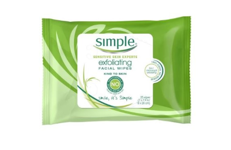 Simple Exfoliating Face Wipes