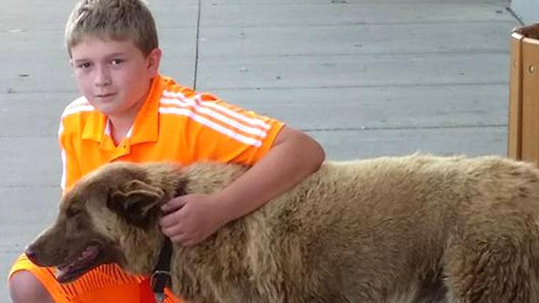 Bruno of Longville, Minnesota and a local boy