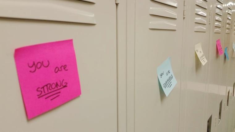 IMAGE: Locker notes