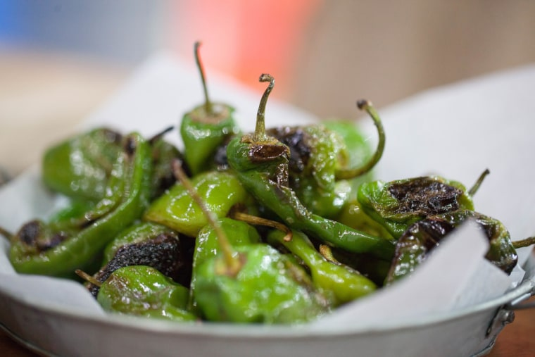 Martha Stewart's blistered Padron peppers