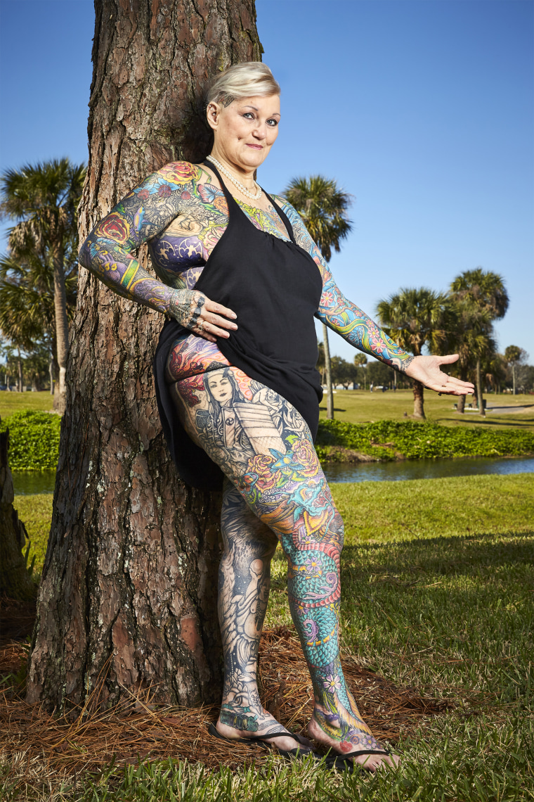 Most tattooed female senior citizen